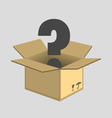 Opened cardboard box vector image