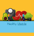 people healthy lifestyle design vector image vector image