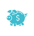 piggy bank money business finance color silhouette vector image