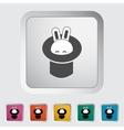 Rabbit in magician hat vector image