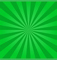 rays background green vector image vector image