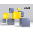 realistic cubes background concept vector image