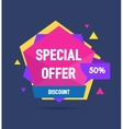 Sale Banner Geometric vector image vector image