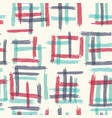seamless pattern design with sloppy doodle stripe vector image vector image