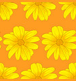 seamless pattern of yellow flowers vector image