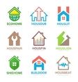 set house logo design template house logo vector image vector image