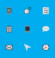 set of simple ui icons elements document message vector image vector image