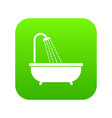 shower icon digital green vector image vector image