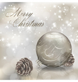 Silver christmas greeting card vector | Price: 1 Credit (USD $1)