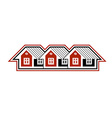 Simple cottages country houses for use in vector image vector image