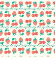 summer background with strawberries and cherries vector image vector image