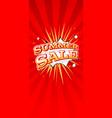 summer sale vertical banner typography design vector image vector image