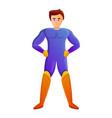 superhero icon cartoon style vector image vector image