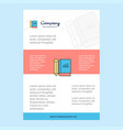 template layout for book and pencil comany vector image vector image