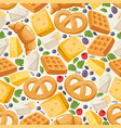 traditional european food seamless pattern vector image