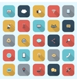 Trendy simple communication icons set in flat vector image