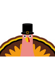 turkey pilgrimin on thanksgiving day vector image vector image