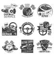 Car Repair Emblem Set vector image