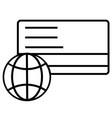 business shop shopping transaction icon vector image