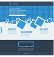website Abstract blue brochure squares vector image