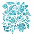 Pink aztec winter design elements vector image