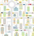 Morning city seamless pattern Texture Cartoon cute vector image