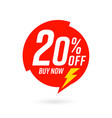 20 percent off label sale promotion template