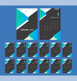 2019 calendar desk calendar modern design vector image vector image