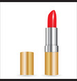 3d model of realistic red lipstick vector image vector image