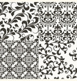 4 seamless vintage floral patterns vector image vector image