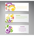 abstract circles template Object web vector image vector image