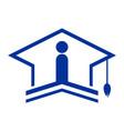 academic bachelor logo icon concept vector image vector image