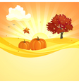 Autumn sunset background vector image vector image