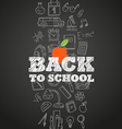 Back to scholl concept Different education symbols vector image vector image