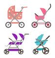 badoll stroller cradle carriage buggy vector image vector image