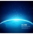 Blue globe earth background vector image vector image