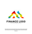 business finance logo concept finance logo vector image