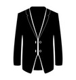 business suit black color icon vector image vector image