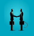 businessman making a deal with devil vector image vector image