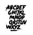 calligraphy hand lettering brush font alphabet vector image