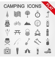 Camping trevel and tourism vector image