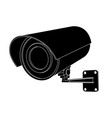 cctv camera black outline vector image vector image