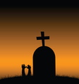 cemetery color vector image