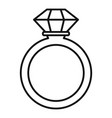 ceremonial diamond ring icon outline style vector image vector image