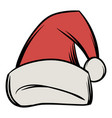 christmas hat icon cartoon vector image vector image