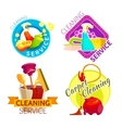 Cleaning Service Badge Set vector image