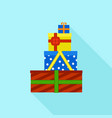 colorful gift box stack icon flat style vector image vector image