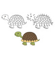 coloring and dot to dot educational game vector image vector image