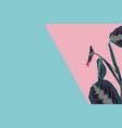 creative minimal summer idea blue pink plant vector image