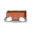 crying brick mascot cartoon style vector image